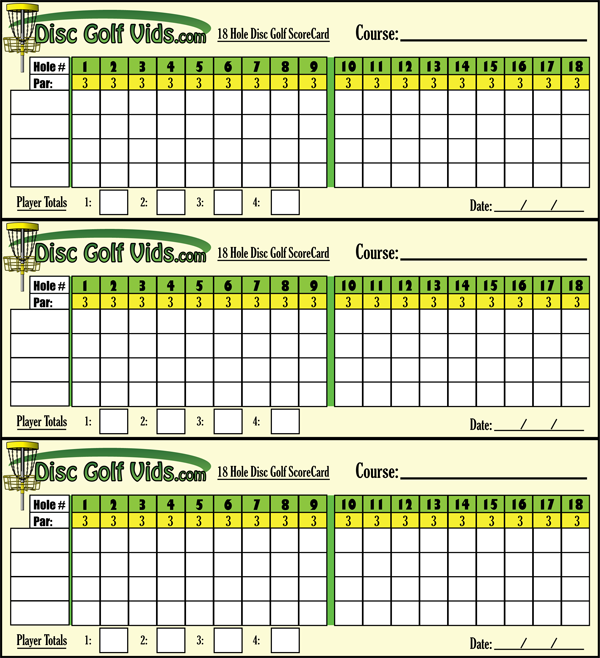 photograph regarding Disc Golf Scorecard Printable titled 9 Gap Disc Golfing Scorecard - Gap Pictures Inside of The Phrase