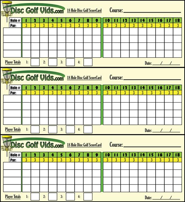 photograph regarding Disc Golf Scorecard Printable referred to as 9 Gap Disc Golfing Scorecard - Gap Images Inside of The Phrase